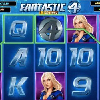Fantastic Four - Slot video 5-reel online dari Playtech.
