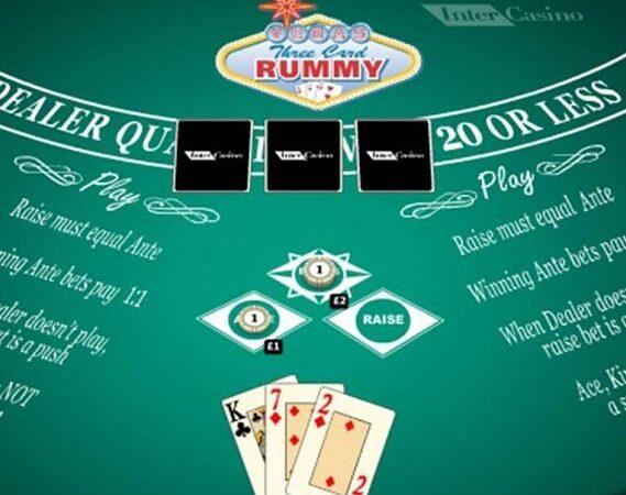 Dasar-dasar dari permainan kasino tiga kartu remi iPad Vegas.