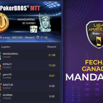 JERUK KEPROK.  memenangkan kencan ketiga Liga Pokerlogia